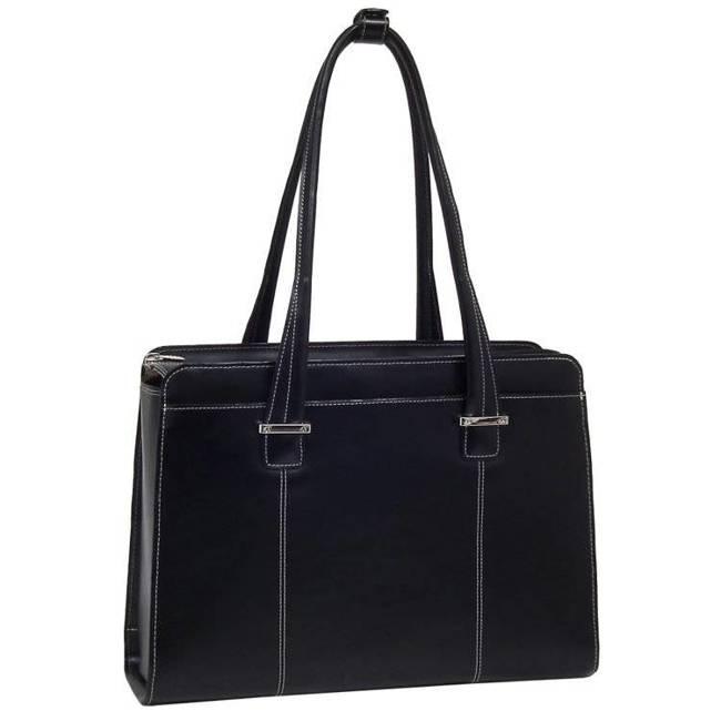 """Mcklein Alexis 96545 skórzana torba damska na laptopa 15,4"""" czarna"""