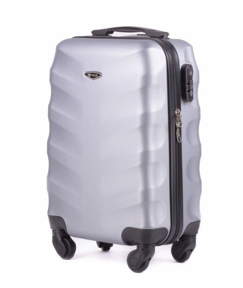 Mała walizka podróżna na kółkach (bagaż podręczny) SOLIER STL402 ABS S srebrna