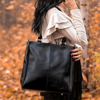 Czarna torebka skórzana damska aktówka DAN-A T177B