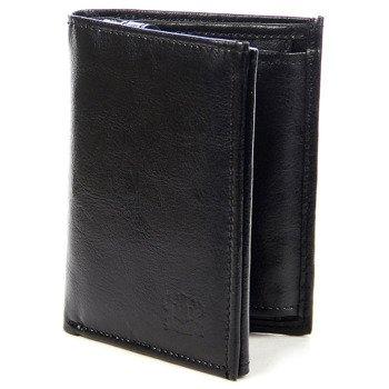 Czarny skórzany portfel męski P175