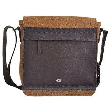 DAAG Clou Next 6 jasnobrązowa torba na ramię skórzana i z tkaniny bawełnianej