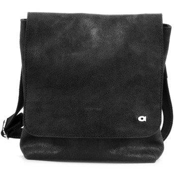 DAAG Jazzy Risk 134 czarna torba skórzana unisex listonoszka przez ramię