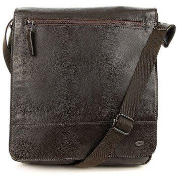 DAAG Take Away 6 brązowa torba skórzana na ramię unisex