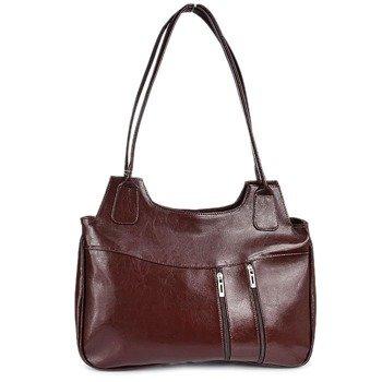 DAN-A T1 koniakowa torebka skórzana damska