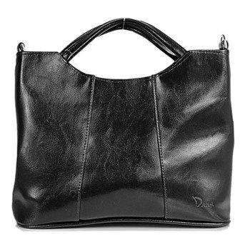 DAN-A T105 czarna torebka skórzana damska aktówka