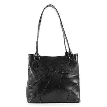 DAN-A T158 czarna torebka skórzana klasyczna