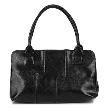 DAN-A T171 czarna torebka skórzana damska kuferek
