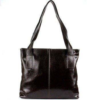 DAN-A T222 czekoladowa torebka skórzana damska