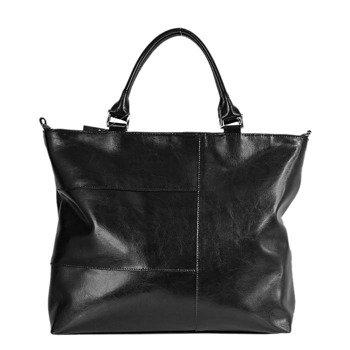 DAN-A T226 czarna torebka skórzana damska kuferek