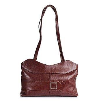 DAN-A T24 koniakowa torebka skórzana damska
