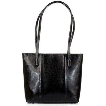 DAN-A T284 czarna torebka skórzana damska elegancka