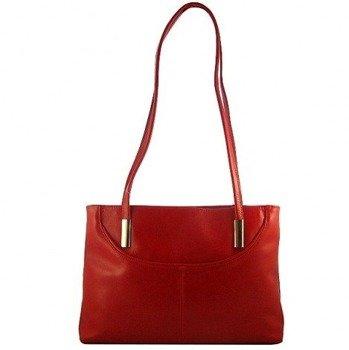 DAN-A T3 czerwona torebka skórzana damska