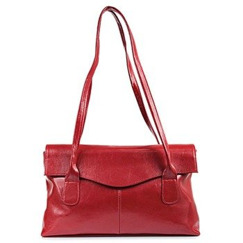 DAN-A T39 czerwona torebka skórzana damska