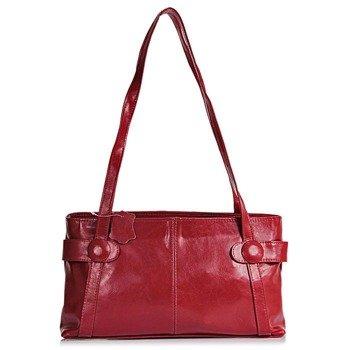 DAN-A T42 czerwona torebka skórzana damska
