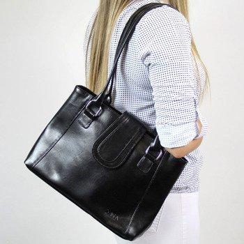 DAN-A T84A czarna torebka skórzana damska