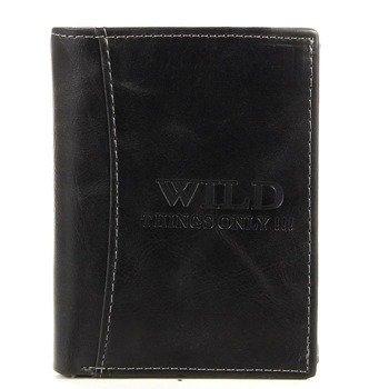 Elegancki portfel męski czarny GA53