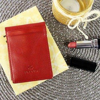 KRENIG Classic 12006 czerwone skórzane etui na karty