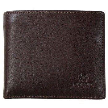 KRENIG Classic 12027 - brązowy skórzany portfel męski w pudełku