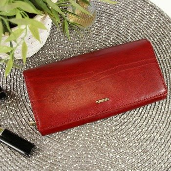 53735a3e9ea6c KRENIG El Dorado 11015 ekskluzywny czerwony skórzany portfel damski w  pudełku