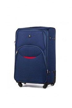 0f92856116df7 Mała podręczna walizka miękka S Solier STL1708 granatowa
