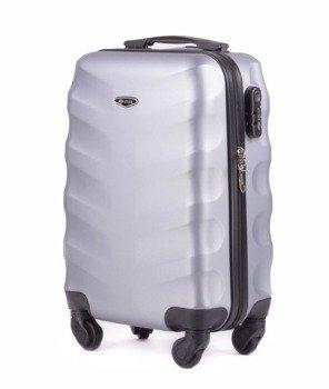 6e9eebd0d3049 Mała walizka podróżna na kółkach SOLIER STL402 ABS XS srebrna