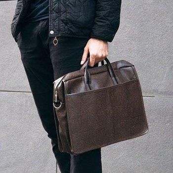 fbcfe30137415 Męska torba na ramię, torba na laptop SOLIER S13 ciemnobrązowa