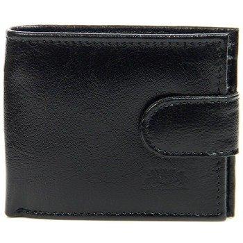 P71 czarny skórzany portfel męski