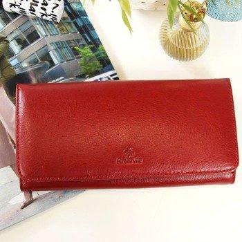 1edcfecc58871 Portfel skórzany damski KRENIG Classic 12026 czerwony w pudełku