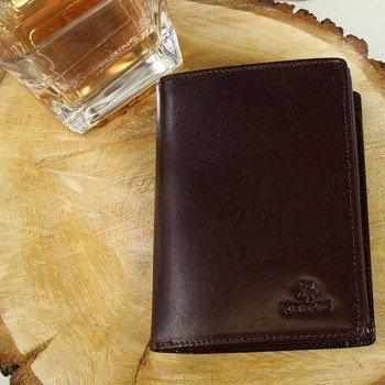 c10759578b418 Portfel skórzany męski KRENIG Classic 12029 brązowy w pudełku