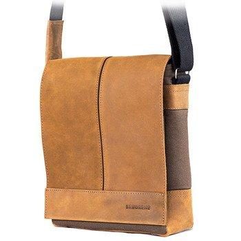 Skórzana torba męska raportówka BRODRENE ML17 jasnobrązowa