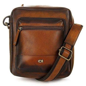 Skórzana torba na ramię koniakowa vintage unisex Daag Alive 30