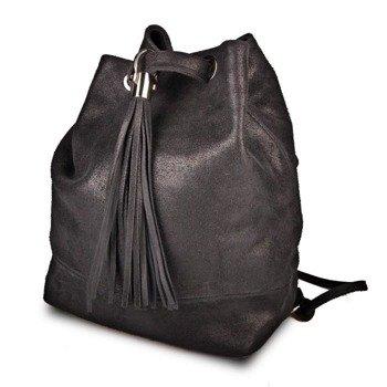 Skórzana włoska torba, plecak Zaino 008 ciemnoszary