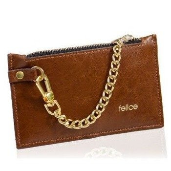 0ae3860a16442 Skórzany portfel damski Felice P07 brązowy vintage