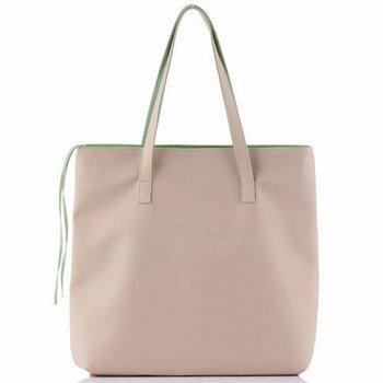 Torba damska shopper bag FELICE D01 Verona beżowa
