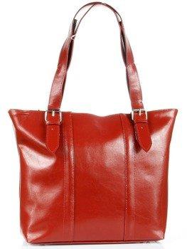 a511ee0ae844d Torebka skórzana elegancka DAN-A T251 czerwona