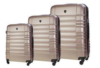 Zestaw walizek podróżnych STL838 rose gold