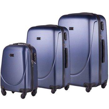 Zestaw walizek podróżnych na kółkach SOLIER STL310 ABS granatowy
