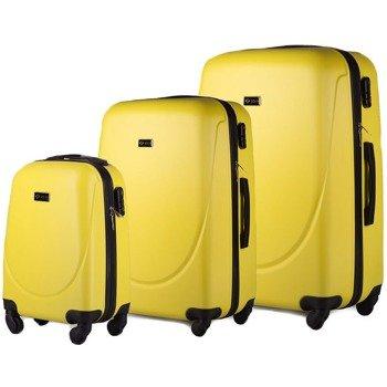 Zestaw walizek podróżnych na kółkach SOLIER STL310 ABS żółty
