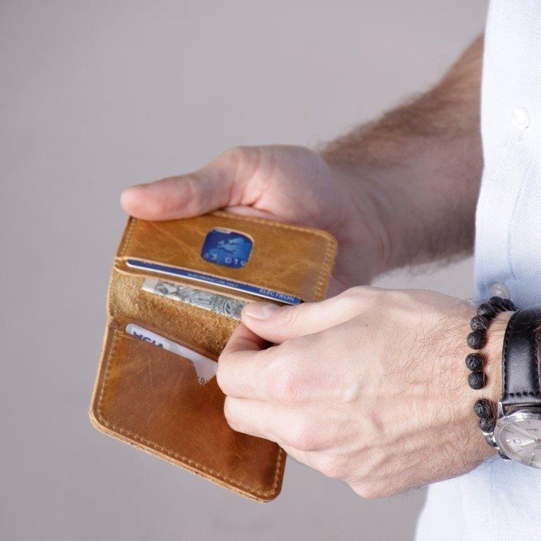 c1beea1d61aa4 Cienki skórzany portfel męski Solier SW11 czarny -  15469 ...