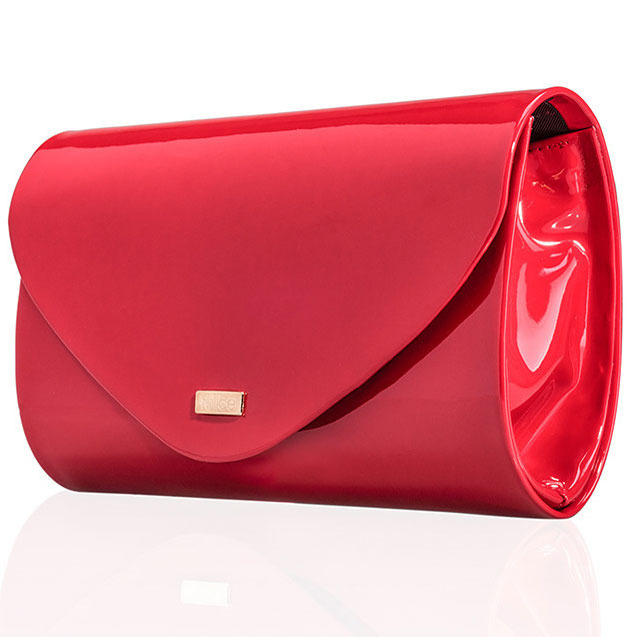 Czerwona damska kopertówka Felice F15 LAKIER