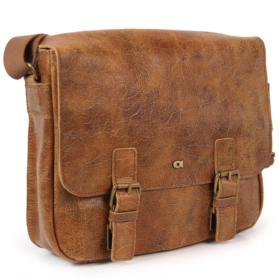896d0b1e105b2 DAAG Jazzy Wanted 32 brązowa torba skórzana unisex listonoszka przez ramię  ...