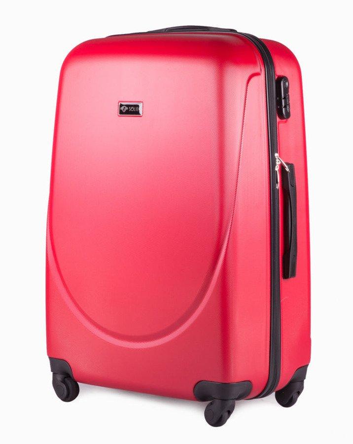 0621de20b9b29 Duża walizka podróżna na kółkach SOLIER STL310 L ABS czerwona ...