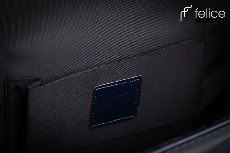 Elegancka kopertówka damska wizytowa FELICE Clutch F02 granatowa