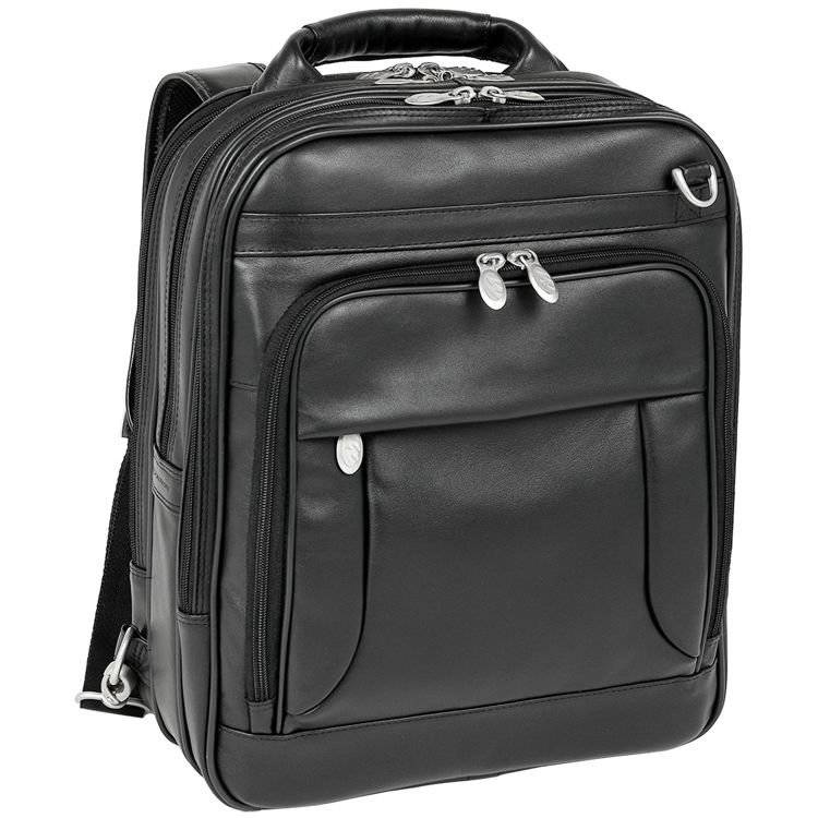 9569f5dc42166 Mcklein Lincoln Park skórzany plecak z odpinanymi ramionami, torba na laptopa  15,4
