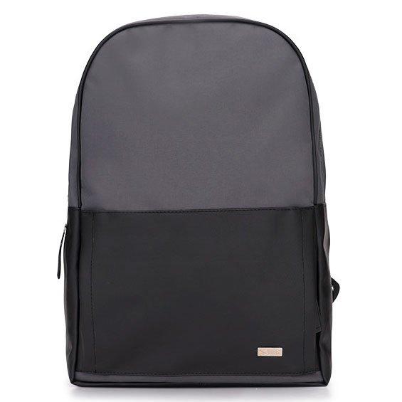 621049c5db66c Męski plecak miejski na laptopa Solier SR01 FORRES szaro-czarny ...