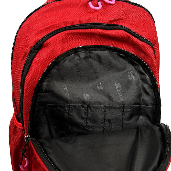 Plecak szkolny młodzieżowy czerwony STARTER PL8
