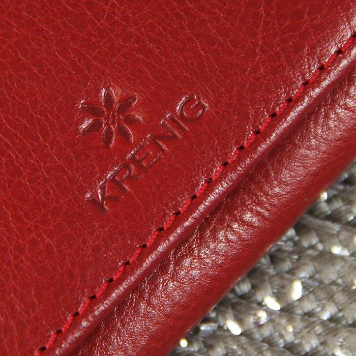 d16a3e9fff423 ... Portmonetka skórzana damska KRENIG Classic 12011 czerwona w pudełku ...