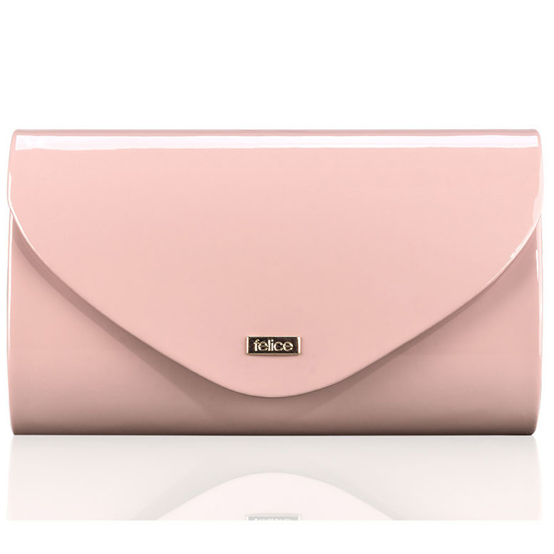 Różowa damska kopertówka Felice F15 LAKIER