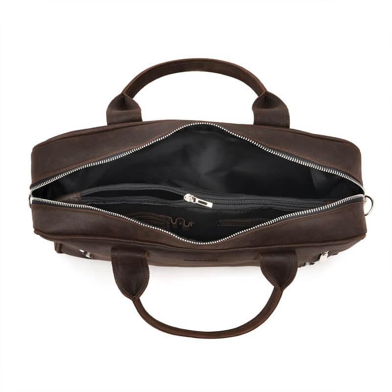 406f2d4ea41ea Skórzana torba męska na laptop BRODRENE BL02 ciemnobrązowa -  14237 ...