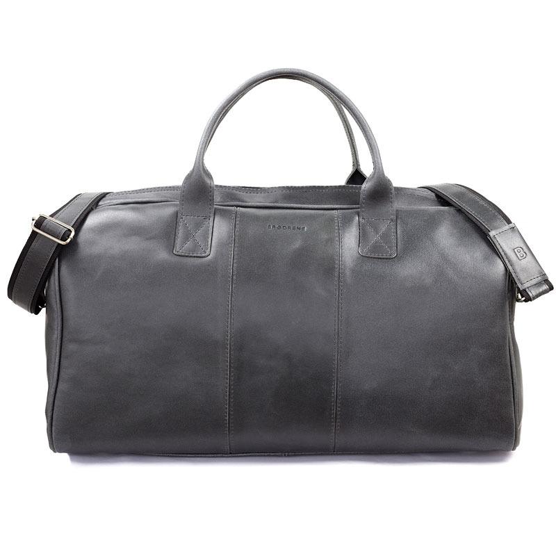 Skórzana torba męska podróżna BRODRENE BL30 grafitowa